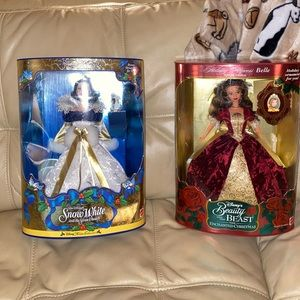 NIB Vintage Holiday Disney Princess Barbie Dolls